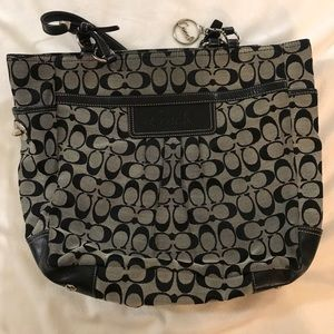 Black and Grey Coach Purse